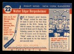 1954 Topps #22  Wally Hergesheimer  Back Thumbnail