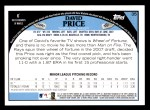 2009 Topps #35  David Price  Back Thumbnail