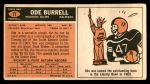 1965 Topps #71  Ode Burrell  Back Thumbnail