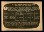 1966 Topps #85  Bernie Geoffrion  Back Thumbnail