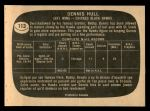 1966 Topps #113  Dennis Hull  Back Thumbnail