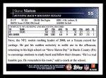 2009 Topps #55  Steve Slaton  Back Thumbnail