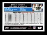 2005 Topps #84  Jason Taylor  Back Thumbnail