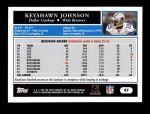 2005 Topps #97  Keyshawn Johnson  Back Thumbnail