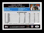 2005 Topps #102  Chad Lewis  Back Thumbnail