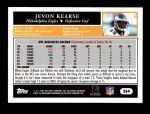 2005 Topps #264  Jevon Kearse  Back Thumbnail