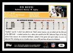 2005 Topps #99  Ed Reed  Back Thumbnail