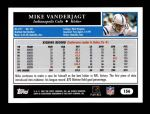 2005 Topps #156  Mike Vanderjagt  Back Thumbnail