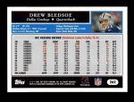 2005 Topps #262  Drew Bledsoe  Back Thumbnail