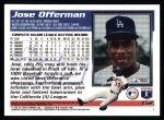 1995 Topps #152  Jose Offerman  Back Thumbnail