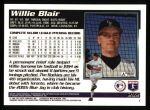 1995 Topps #292  Willie Blair  Back Thumbnail