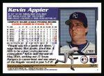 1995 Topps #325  Kevin Appier  Back Thumbnail
