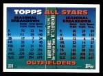 1995 Topps #388   -  Ken Griffey Jr.  /  Barry Bonds All-Star Back Thumbnail