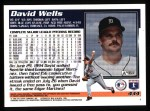 1995 Topps #434  David Wells  Back Thumbnail