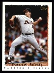 1995 Topps #434  David Wells  Front Thumbnail