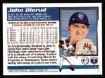 1995 Topps #499  John Olerud  Back Thumbnail