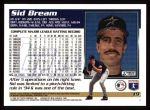 1995 Topps #19  Sid Bream  Back Thumbnail