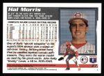 1995 Topps #27  Hal Morris  Back Thumbnail