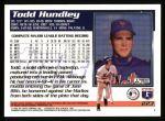 1995 Topps #223  Todd Hundley  Back Thumbnail