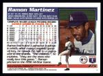 1995 Topps #275  Ramon Martinez  Back Thumbnail