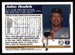 1995 Topps #500  John Hudek  Back Thumbnail