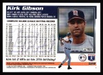1995 Topps #519  Kirk Gibson  Back Thumbnail