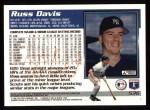 1995 Topps #536  Russ Davis  Back Thumbnail