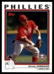 2004 Topps Traded #146 T  -  Danny Gonzalez First Year Front Thumbnail