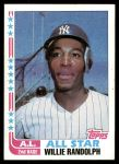 1982 Topps #548   -  Willie Randolph All-Star Front Thumbnail