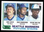 1982 Topps #711   -  Reggie Walton / Dave Edler / Dave Henderson Rookies Front Thumbnail
