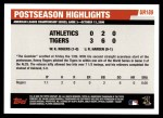 2006 Topps Update #189   -  Kenny Rogers Postseason Highlights Back Thumbnail