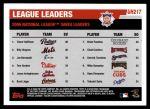 2006 Topps Update #217   -  Trevor Hoffman / Billy Wagner / Joe Borowski NL Saves Leaders Back Thumbnail