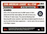 2006 Topps Update #218   -  Ichiro Suzuki All-Star Back Thumbnail