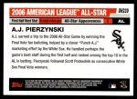 2006 Topps Update #239   -  A.J. Pierzynski All-Star Back Thumbnail