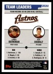 2006 Topps Update #298   -  Lance Berkman / Roy Oswalt Astros Leaders Back Thumbnail