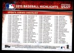 2015 Topps Update #227  Mike Trout  Back Thumbnail