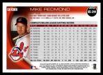 2010 Topps Update #244  Mike Redmond  Back Thumbnail