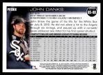 2010 Topps Update #68  John Danks  Back Thumbnail