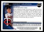 2010 Topps Update #191  Danny Valencia  Back Thumbnail