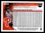 2010 Topps Update #245  Placido Polanco  Back Thumbnail