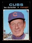 1971 Topps #609  Leo Durocher  Front Thumbnail