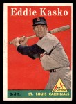 1958 Topps #8 WN Eddie Kasko  Front Thumbnail