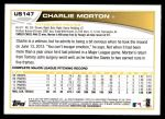 2013 Topps Update #147  Charlie Morton  Back Thumbnail