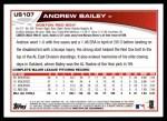 2013 Topps Update #107  Andrew Bailey  Back Thumbnail