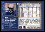 2000 Topps #58  Mike Pritchard  Back Thumbnail