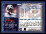 2000 Topps #195  Yancey Thigpen  Back Thumbnail