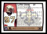 1999 Topps #88  La'Roi Glover  Back Thumbnail