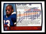 1999 Topps #164  Sam Gash  Back Thumbnail