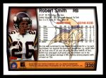 1999 Topps #220  Robert Smith  Back Thumbnail