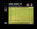 2007 Topps Update #65  Angel Pagan  Back Thumbnail